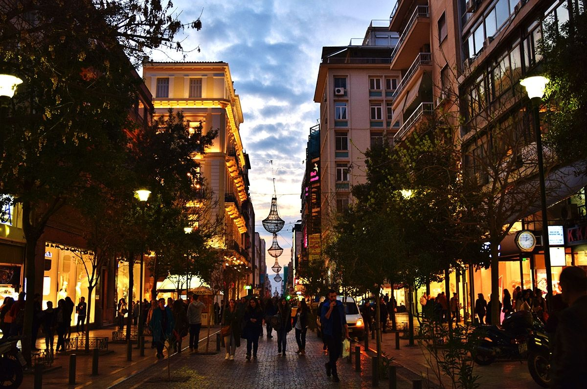 Ermou Street at Athens