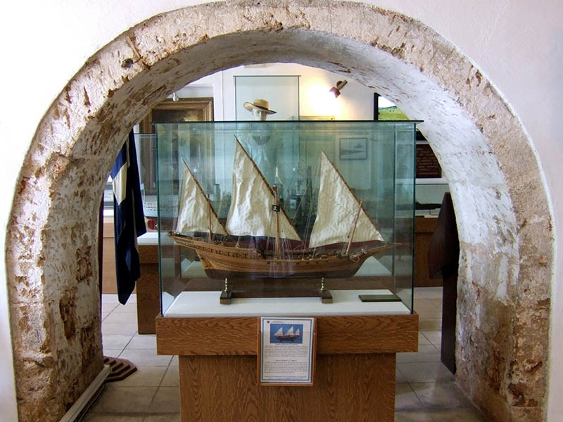 Exhibit at the Maritime Museum Chania