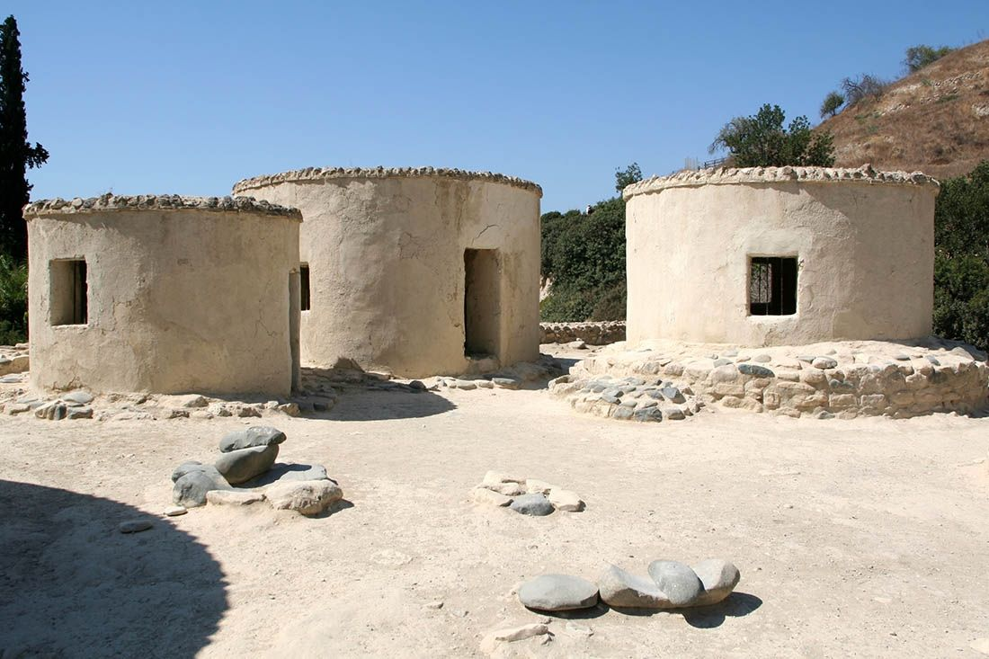 Choirokoitia, the Neolithic settlement with its peculiar circular buildings