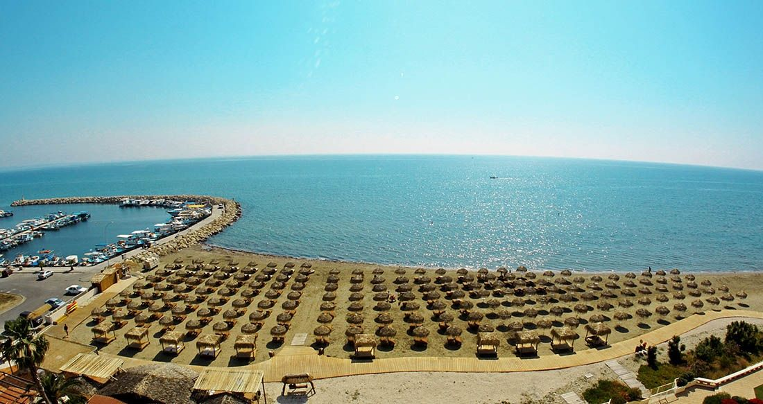 The Castella Beach in Larnaca has been awarded the blue flag