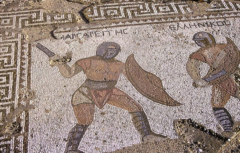 Detail of the mosaic of the site Kourion